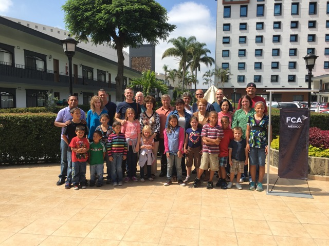 FCA missionaries to Mexico gather for a time of refreshment and encouragement.
