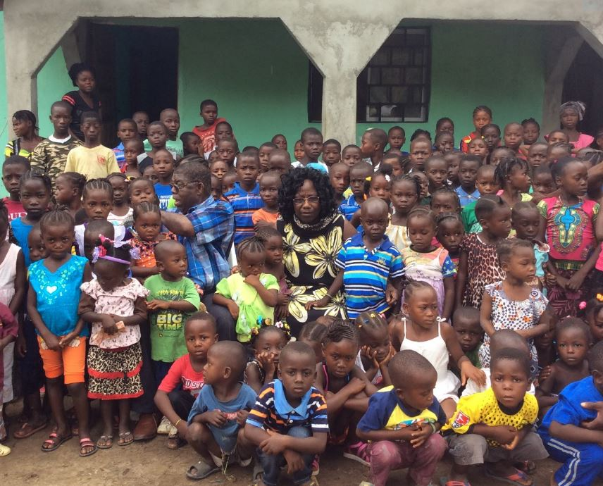 Pastor Irvin and Alice Kofa, returned from Norway to minister to hundreds of children in their home country of Liberia.